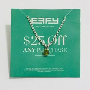 🛍7/$20🛍 Effy silver chain green pendant necklace